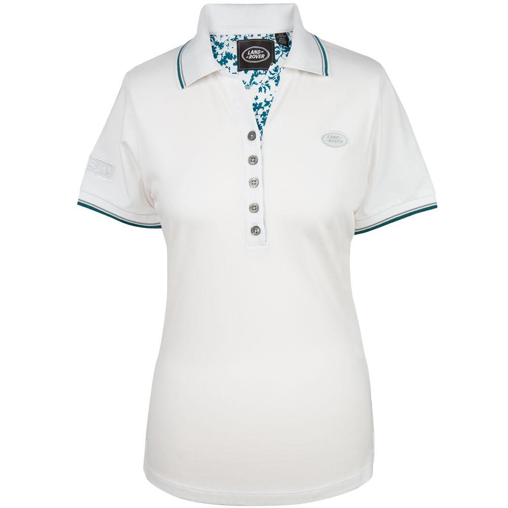 Polo à badge ovale pour femme